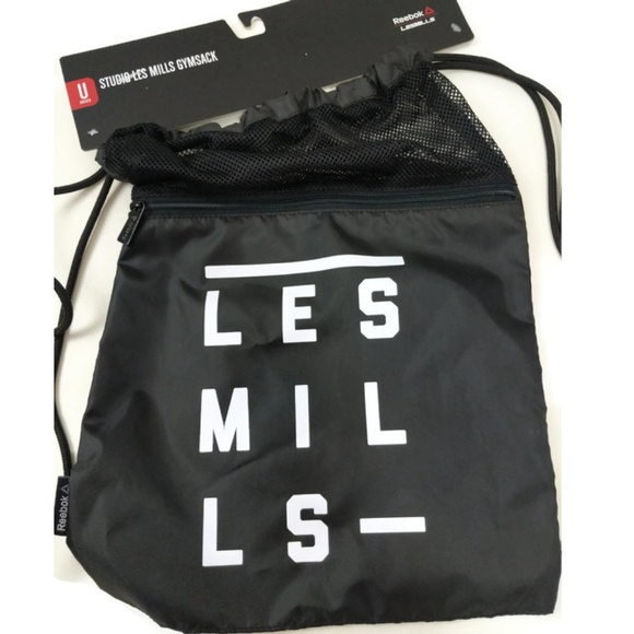 64ae930140 Reebok Les Mills Drawstring String Backpack NWT